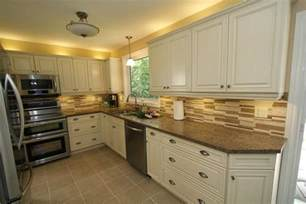 Cream Cabinet Kitchens cream kitchen cabinets with white appliances images
