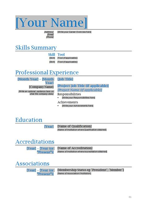 Resume Template In Word Format by 286 Best Images About Resume On Entry Level