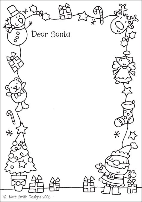 free coloring pages of letters to santa katesmithdesigns 187 santa letter to colour in