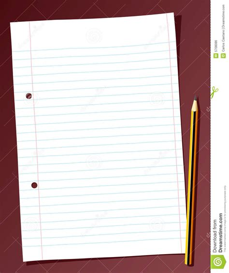 Spreadsheet Paper by Sheet Of Paper Stock Vector Image Of Blank Holed