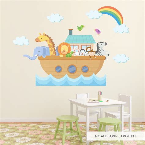 noah ark wall stickers noah s ark wall decal wall stickers for children s nursery