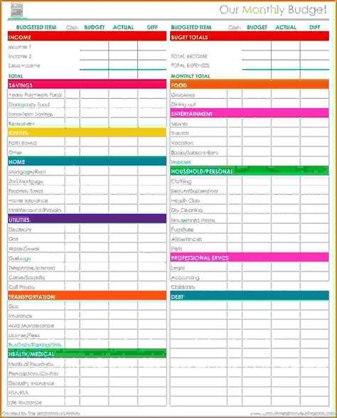 spreadsheet templates budget 11 monthly budget spreadsheet free lease template