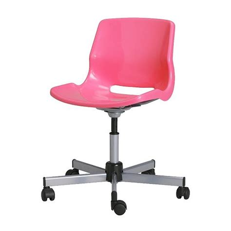 pink swivel desk chair