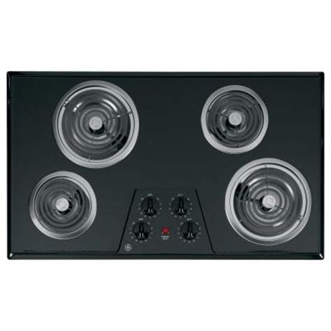 36 inch electric coil cooktop ge 36 in coil electric cooktop in black with 4 elements