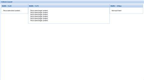 extjs layout column height extjs中layout的12种布局风格 布布扣 bubuko com