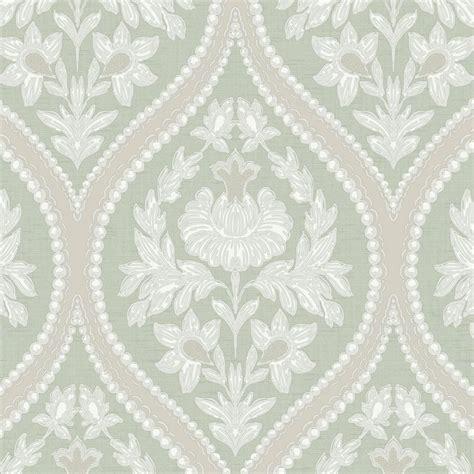wallpaper green damask designer interiors pienza damask wallpaper green 35482