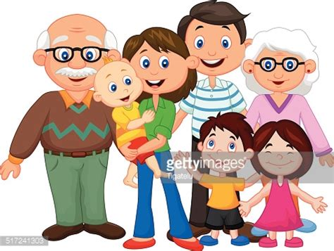 clipart famiglia happy family vector getty images