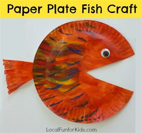 paper plate fish template paper plate fish craft for home philly