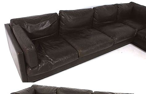 goose down couch danish leather goose down corner sofa orange and brown