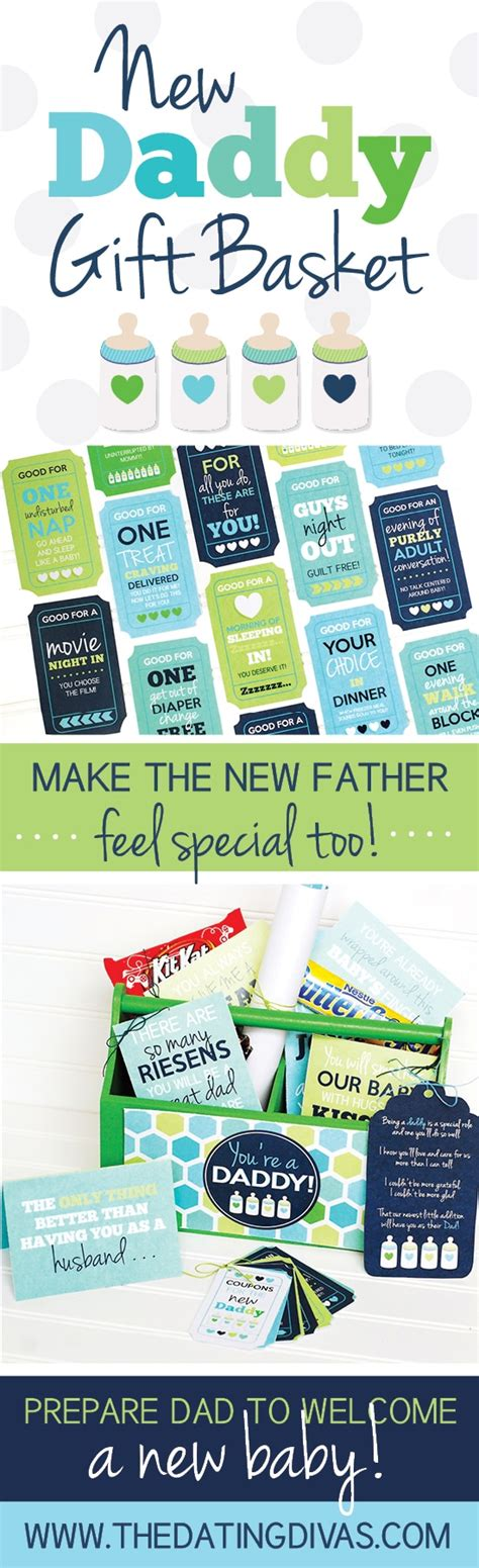 day gift ideas for new dads new gift basket the dating divas