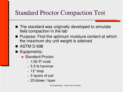 test proctor cover letter class 4 soil compaction geotechnical engineering