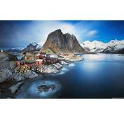 Norway Lofoten Islands Mountain Sea Full Hd Nature
