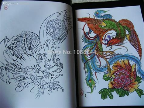 phoenix tattoo book wholesale wholesale dragon phoenix tattoo flash collection