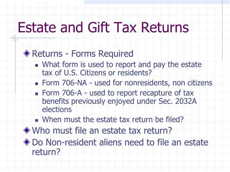 section 2032a ppt overview of estate gift tax unified rate schedule