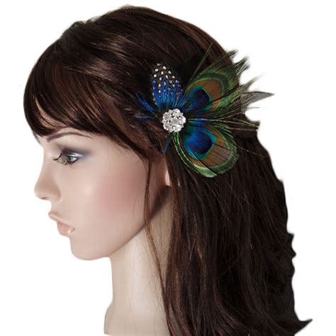 Wedding Hair Accessories Ebay Uk by Peacock Feather Bridal Wedding Hair Clip Headpiece