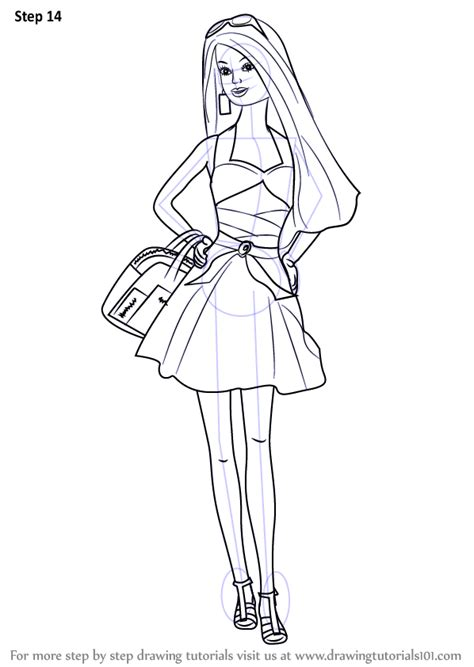fashion doll drawing learn how to draw a doll step by step