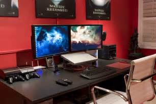 Pc Gaming Desk Setup Gaming Setup Ideas Home Decorating Ideasbathroom Interior Design