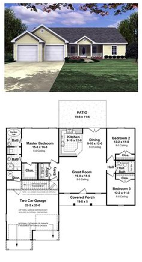 1000 Images About Ranch Style Home Plans On Pinterest Ranch House Plans With Rear Exposure
