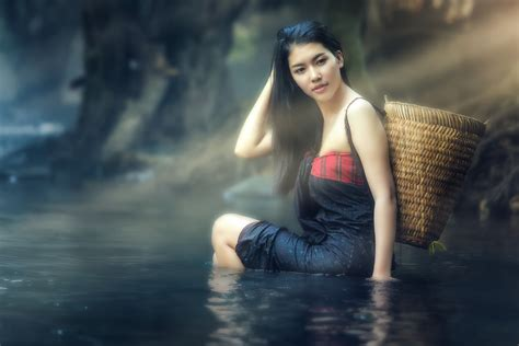 wallpaper girl thai the world s best photos of bathing and laos flickr hive mind