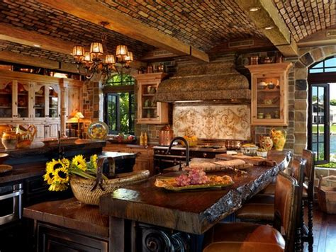 rustic cooking top 10 beautiful rustic kitchen interiors for a warm