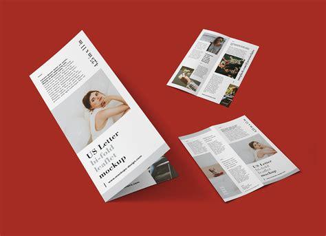 Bi Fold Brochure Paper - free bi fold brochure leaflet mockup psd mockups