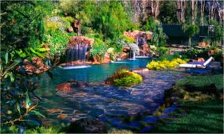 Backyard Pools With Waterfalls Exotic Swimming Pools Ultimate Water Creations