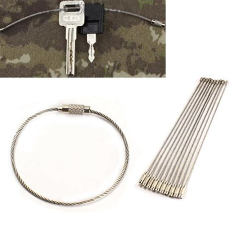 10 outdoor wire 10pcs new 2017 sale stainless steel wire keychain