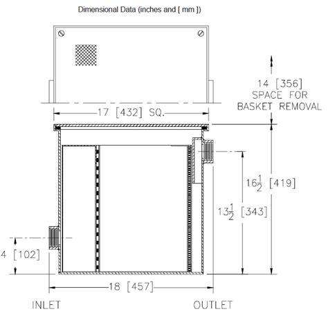 sink solids interceptor light commercial solids interceptors catch waste from