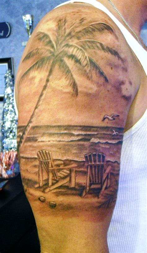 beach scene tattoo by stevie lange moonlight tattoos