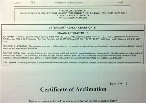 health certificate for dogs 301 moved permanently