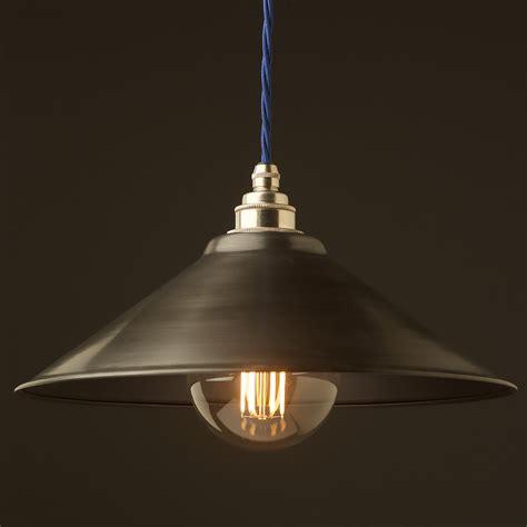 Antiqued Steel Light Shade 310mm Pendant Steel Pendant Light