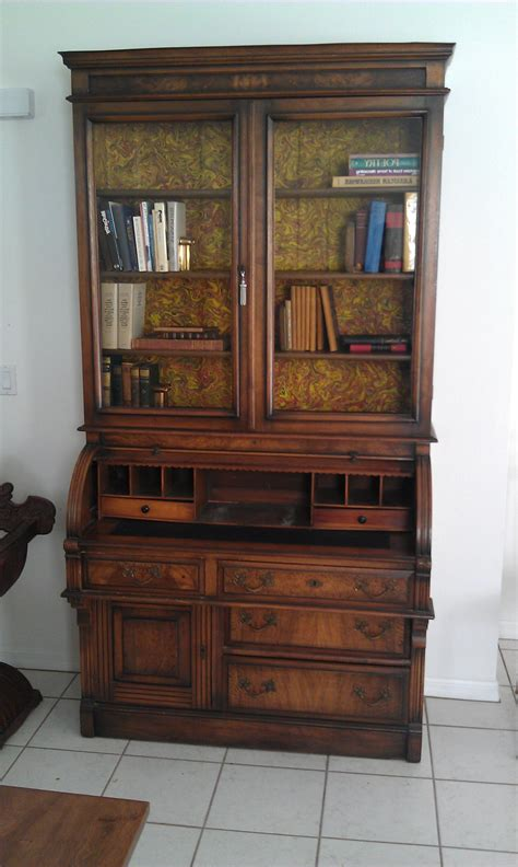 15 photos antique desk with bookcases