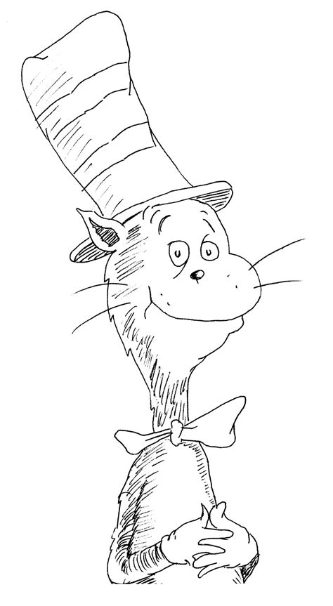 The Cat In The Hat Coloring Page the cat in the hat coloring pages free printable coloring