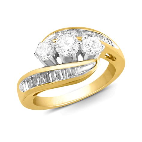 tradition 10k yellow gold 1 cttw certified