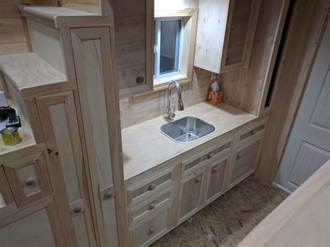 tiny house kitchen sink tiny house kitchen part 2 sink and counter station