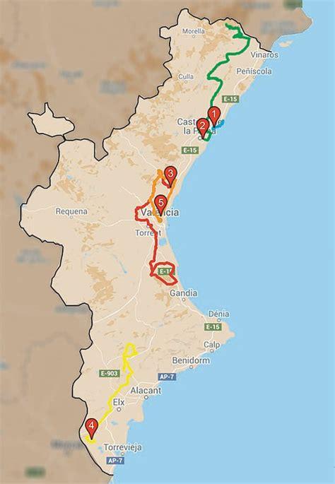 valencia y comunidad valenciana 8497760484 volta a la comunitat valenciana 2016 plataforma recorridos ciclistas