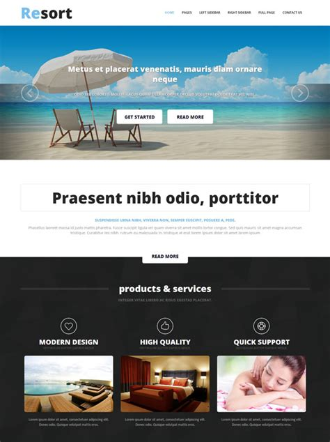 Resort Website Template Resort Website Templates Dreamtemplate Resort Website Template