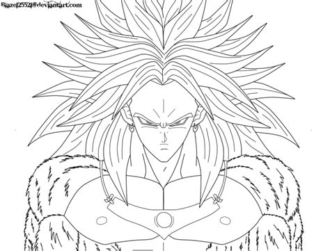 broly super saiyan 4 coloring pages www imgkid com the