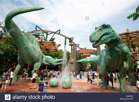 the theme park picture of universal studios singapore the jurassic park attraction at universal studios