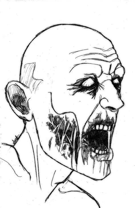 easy zombie tattoo zombie sketch by aysamo on deviantart