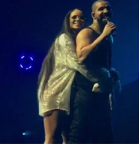 rihanna and drake rihanna joins drake on stage in los angeles and he tells