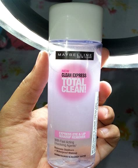 Maybelline Lip Eye Makeup Remover maybelline clean express total clean eye and lip makeup