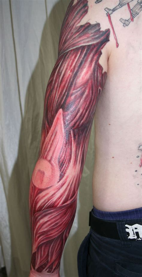 muscle tattoo arm with tissue4 by 2face on deviantart