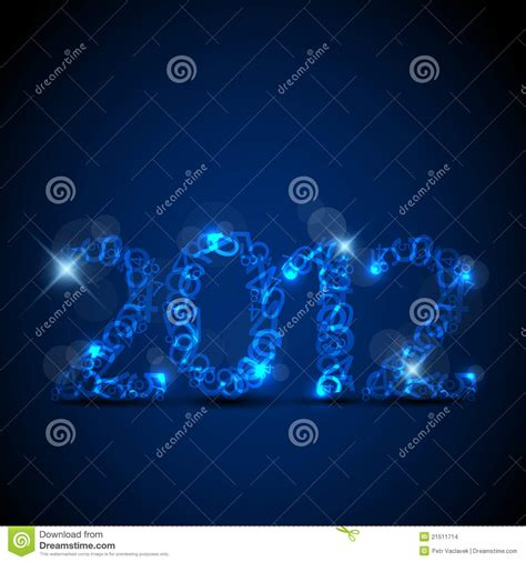 blue new year blue new year card 2012 stock images image 21511714