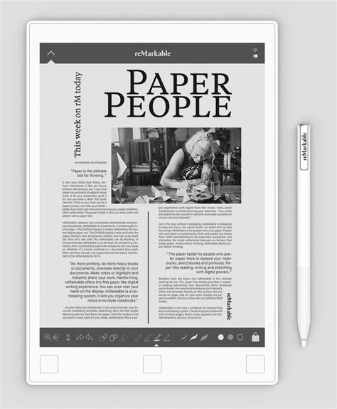 e paper writing tablet remarkable paper tablet lets user enjoy experience of