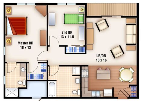 flat floor plans 2 bedrooms apartments apartments 2 bedroom 1 bath and floor