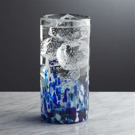 rue blue highball glass crate  barrel