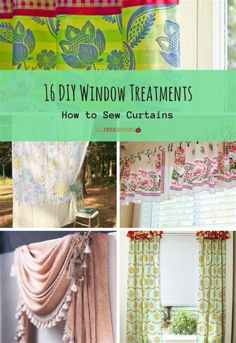 diy window curtains 16 diy window treatments how to sew curtains