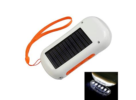 Solar Phone Battery Charger With Flashlight Orange Hk Solar Light Battery Charger