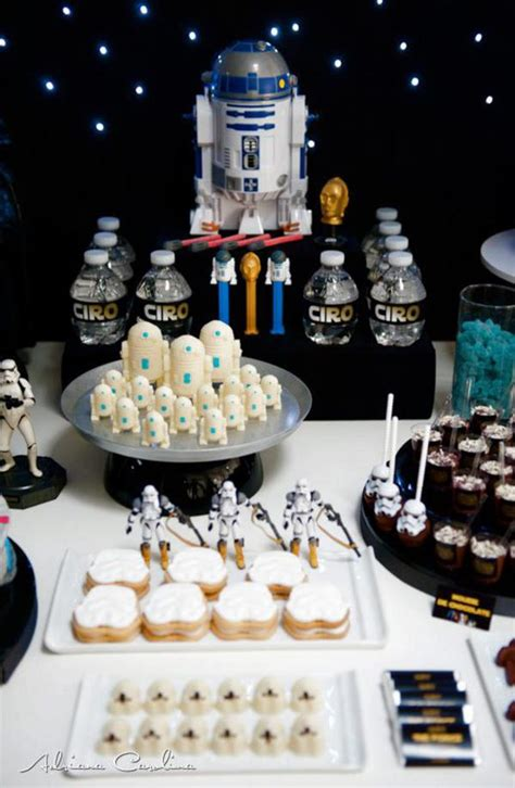 karas party ideas star wars boy yoda darth vader space birthday party planning ideas